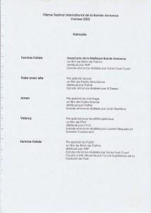 19EME FESTIVAL DE LA BANDE ANNONCE - 2002