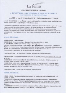 COLLOQUE LA FEMIS - OCTOBER 2012 - Page 1_2
